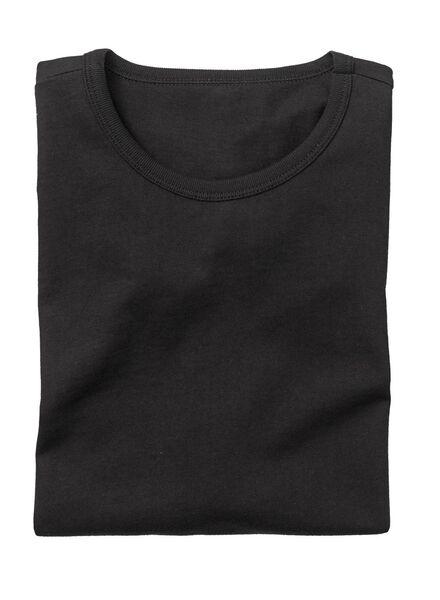 2-pack men's regular fit T-shirts black black - 1000005967 - hema
