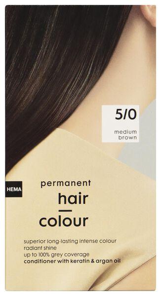 coloration cheveux brun moyen 5/0 - 11050030 - HEMA