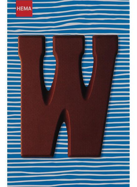 milk chocolate letter W - 10033019 - hema