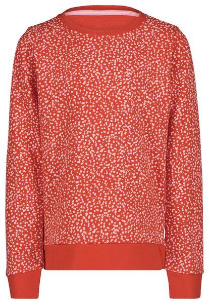 Kinder-Sweatshirt rot rot - 1000017695 - HEMA