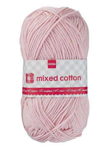 knitting yarn mixed cotton - pink - 1400155 - hema