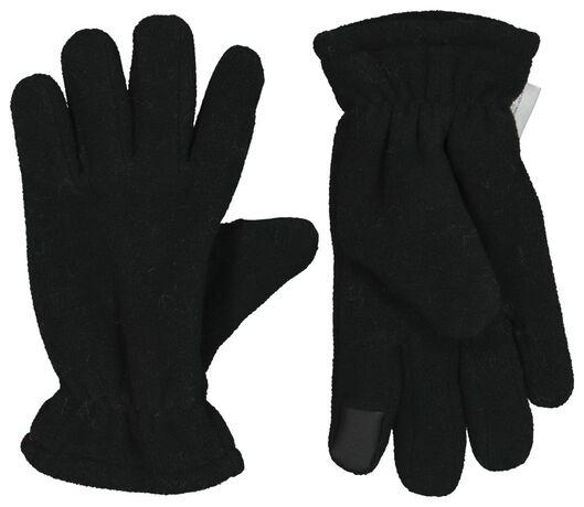 Kinder-Touchscreen-Handschuhe schwarz 158/164 - 16720235 - HEMA