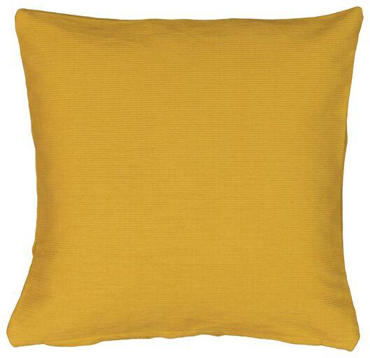 housse de coussin - 40x40 - côtelé - jaune - 7320005 - HEMA