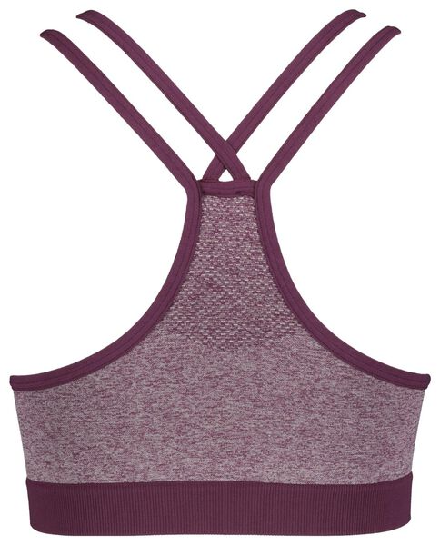 sports top padded seamless burgundy red burgundy red - 1000017743 - hema