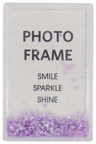 cadre photo avec paillettes 10x6,5x2,5 violet - 60300532 - HEMA