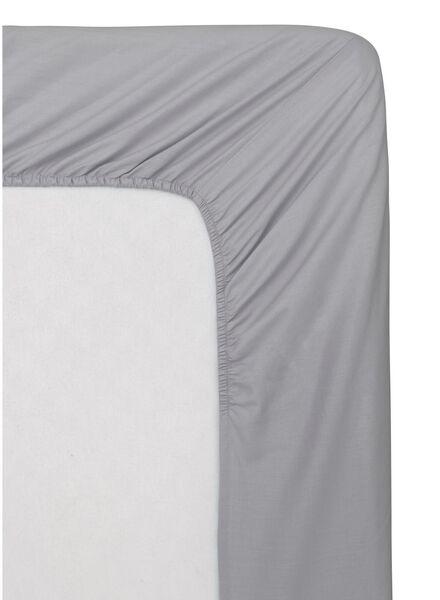 drap-housse - coton doux - 180x220 cm - gris clair - 5100154 - HEMA