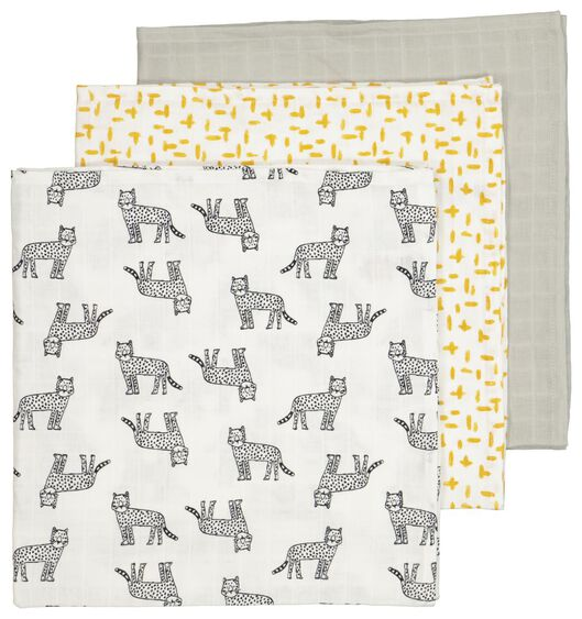 3-pack muslin squares 60x60 cm - 33346130 - hema