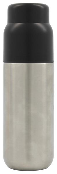 bouteille isotherme 500 ml inox/noir - 80610087 - HEMA