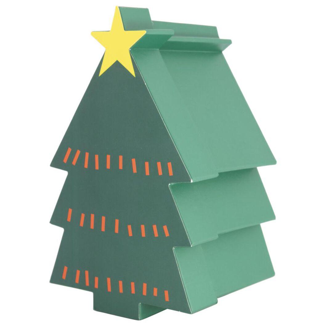 boîte cadeau 27.5x16.5x15 sapin de noël - 25700162 - HEMA