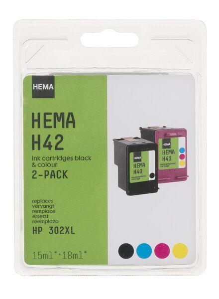H42, kompatibel mit HP 302XL - 38399221 - HEMA