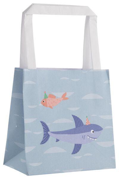 6er-Pack Geschenktaschen, 13 x 13 x 7 cm, Unterwasserthema - 14700386 - HEMA