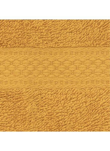 guest towel - 30 x 55 cm - heavy quality - ochre plain yellow ochre guest towel - 5220025 - hema