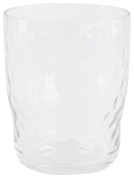 verre à eau Bergen facette relief 360ml - 9401056 - HEMA