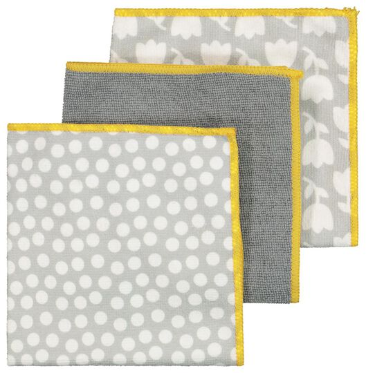 3 micro-fibre cloths 36x36 grey - 5410085 - hema