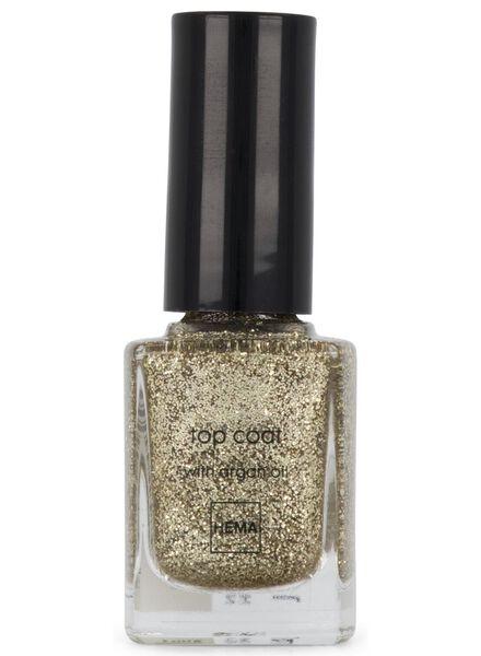 top coat nail polish 72 flashing gold - 11240172 - hema