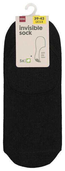 5 paires de socquettes homme noir noir - 1000018847 - HEMA