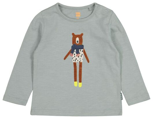 newborn T-shirt bear blue 68 - 33435834 - hema