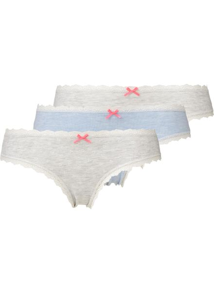 3-pack women's briefs light blue light blue - 1000006552 - hema