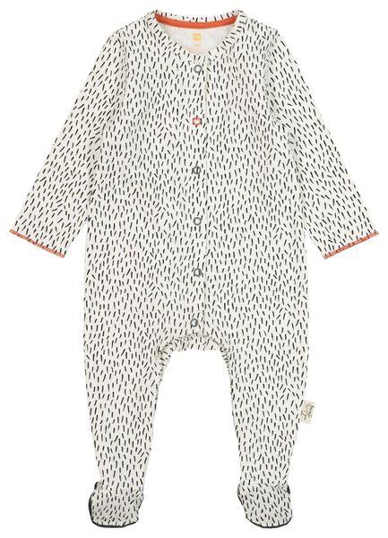 HEMA Newborn-Jumpsuit, Elastische Biobaumwolle Weiß