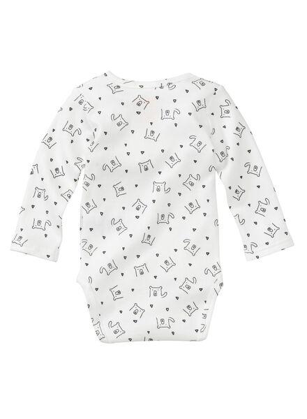 2-pack newborn wrap-around bodysuits organic cotton white white - 1000005725 - hema