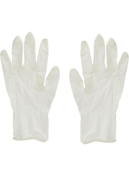 10-pak latex handschoenen M-L (7-9) - 20540007 - HEMA