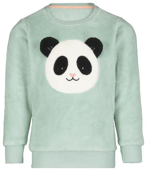 Kinder-Pyjama, Fleece, Panda hellgrün hellgrün - 1000020517 - HEMA