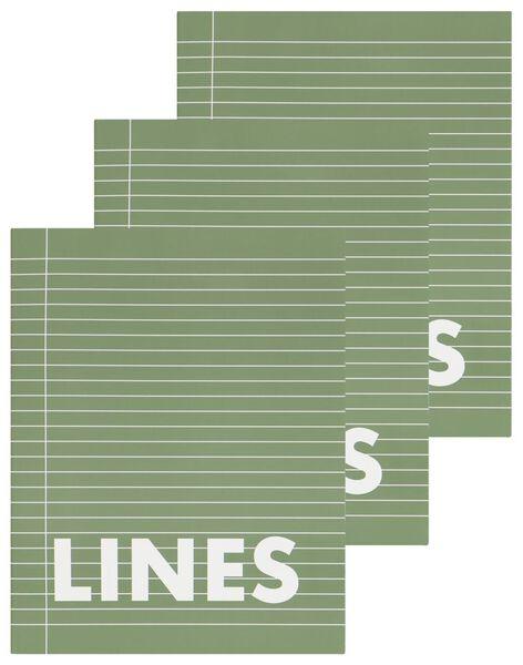 3er-Pack Hefte, grün, DIN A5, liniert - 14101611 - HEMA