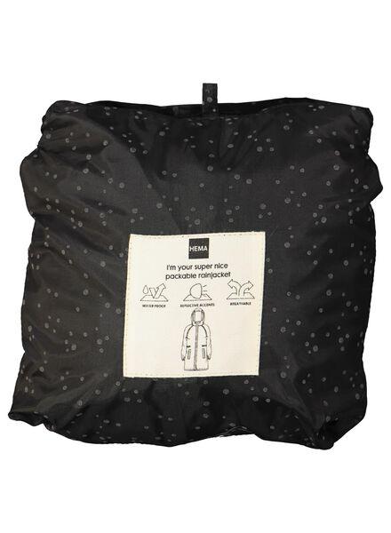 Regenjacke, faltbar schwarz schwarz - 1000013907 - HEMA