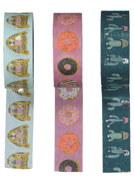 3 rouleaux de ruban adhésif washi - 14135901 - HEMA