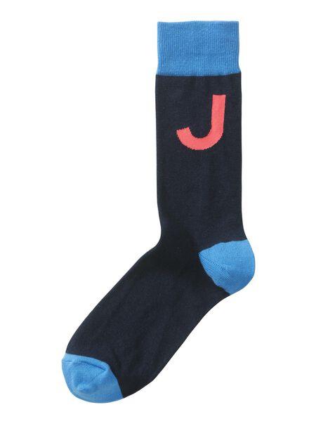Socken für Frauen - HEMA Socken, Größe 43 46, Buchstabe J  - Onlineshop HEMA