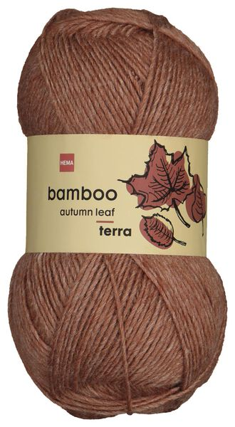yarn wool bamboo 100 grams terracotta - 1400229 - hema