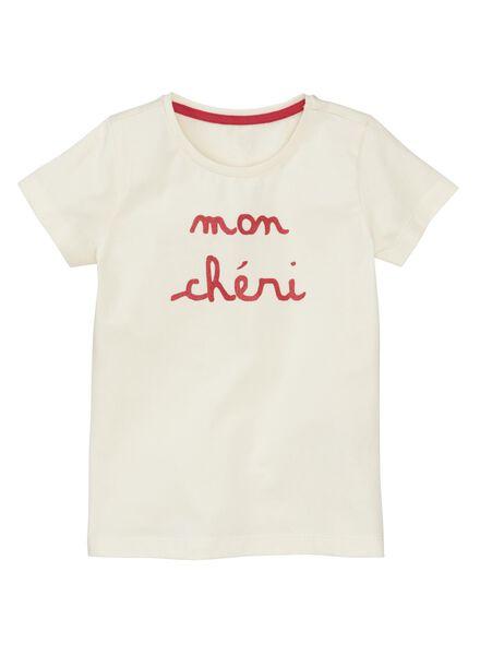 Kinder-T-Shirt eierschalenfarben eierschalenfarben - 1000012002 - HEMA