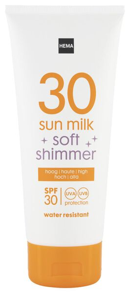 sun milk with soft shimmer SPF 30 - 200 ml - 11610173 - hema