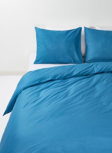 housse de couette-coton doux-240x220cm-bleu denim foncé 240 x 220 - 5700138 - HEMA
