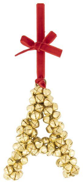 décoration de noël avec grelots - lettre A doré doré - 1000021945 - HEMA