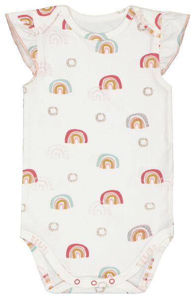 Body, elastische Biobaumwolle, Regenbogen eierschalenfarben eierschalenfarben - 1000022555 - HEMA