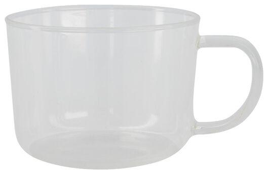 mug à cappuccino Chicago 330 ml verre - 80660023 - HEMA