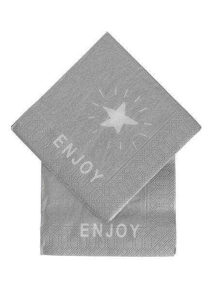 20-pack napkins 24 x 24 cm - 25632270 - hema