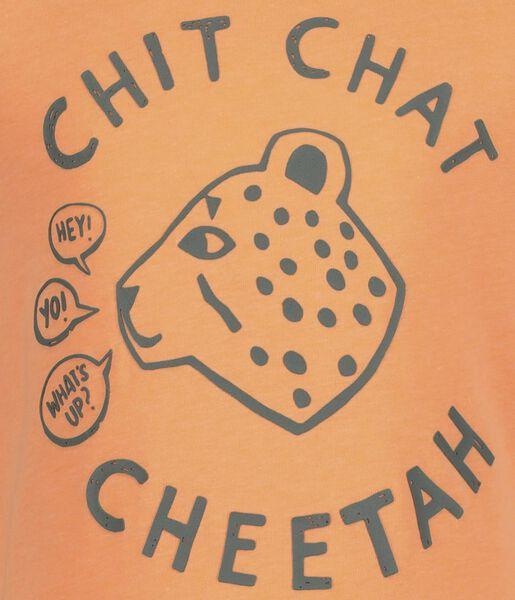 children's T-shirt bright orange bright orange - 1000019119 - hema