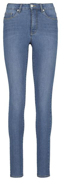 women's jeans - shaping skinny fit mid blue mid blue - 1000018249 - hema