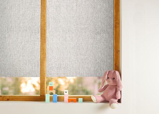 raamfolie textiel 150x45 gerecycled lichtgrijs - 7610003 - HEMA