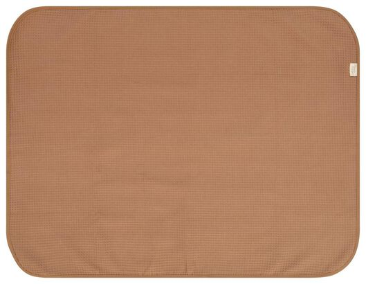 Wiegendecke, 75 x 100 cm Waffelstruktur, braun - 33337120 - HEMA