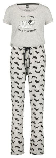 women's pyjamas Takkie grey melange grey melange - 1000019981 - hema