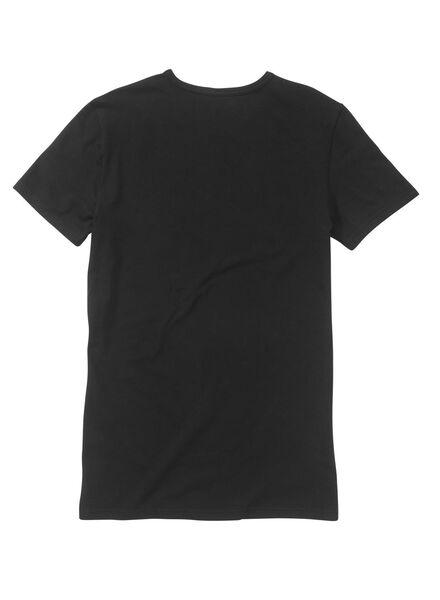 2 t-shirts homme noir noir - 1000001181 - HEMA