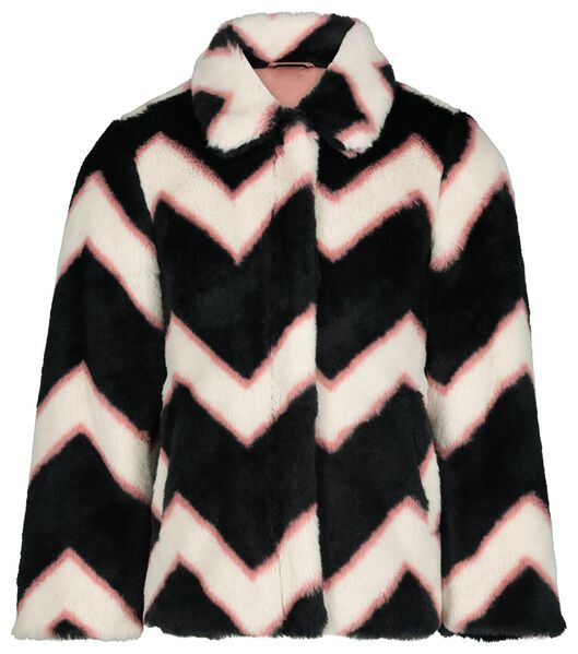 children's coat imitation fur zigzag multi1 multi1 - 1000020133 - hema