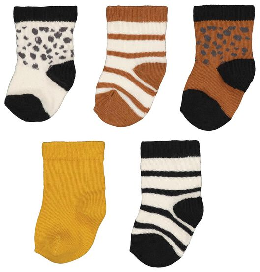 Babyaccessoires - HEMA 5er Pack Baby Socken Braun - Onlineshop HEMA