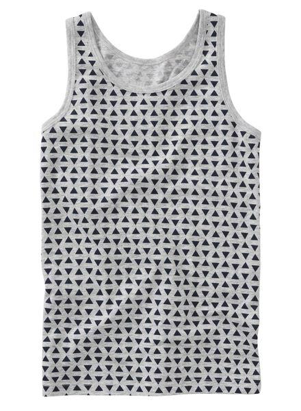 2-pack children's vests grey melange grey melange - 1000007324 - hema