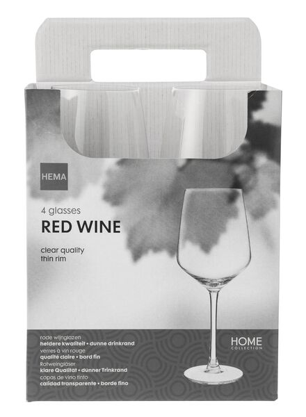 4-pack red wine glasses 490 ml - 9401012 - hema