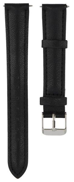 Uhrenarmband schwarz schwarz - 1000021935 - HEMA