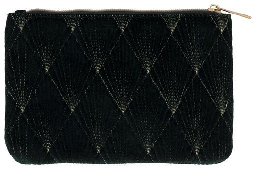 small make-up bag green velvet - 11890390 - hema